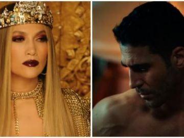 Jennifer Lopez y Miguel Ángel Silvestre en el videoclip de 'El anillo'