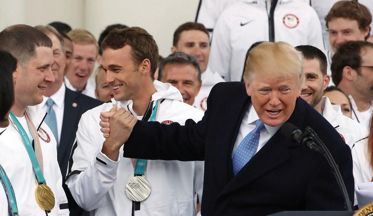 Donald Trump, con la delegación paralímpica de Estados Unidos