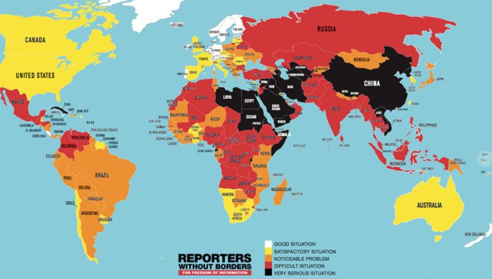 La libertad de prensa en el mundo en 2018