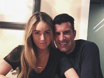 Daniela Figo con su padre Luis Figo