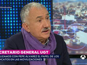 Pepe Álvarez, secretario general de la UGT
