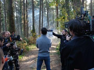 Imágenes del final del rodaje de 'Presunto Culpable'