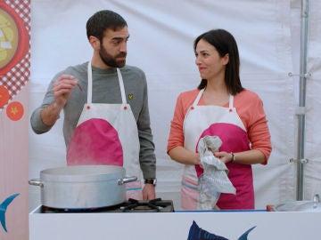 Gotzone, la nueva pareja de Iñaki en el Concurso de Marmitako