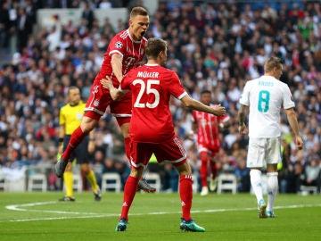 Kimmich celebra su gol contra el Real Madrid