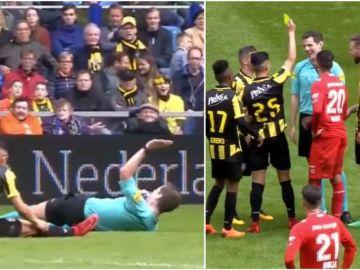 La broma de un jugador del Vitesse al árbitro