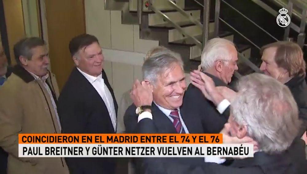Florentino Pérez recibe a los integrantes del Real Madrid de Breitner y Netzer