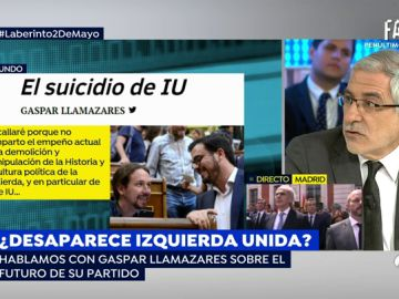 """Gaspar Llamazares: """"El proyecto político de Izquierda Unida sigue vigente y no debería disolverse en Podemos"""""""