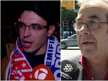 Aficionados de Madrid y Barça, tras el pase de los blancos a la final de Kiev