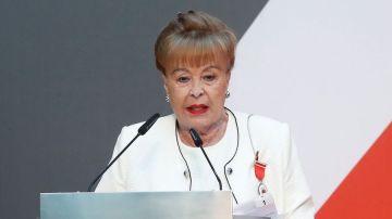 Gemma Cuervo durante su discurso