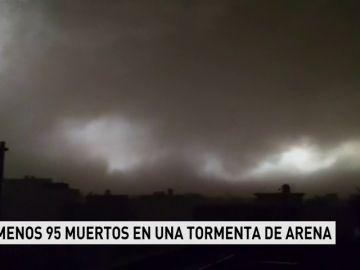 Al menos 95 muertos en una tormenta de arena