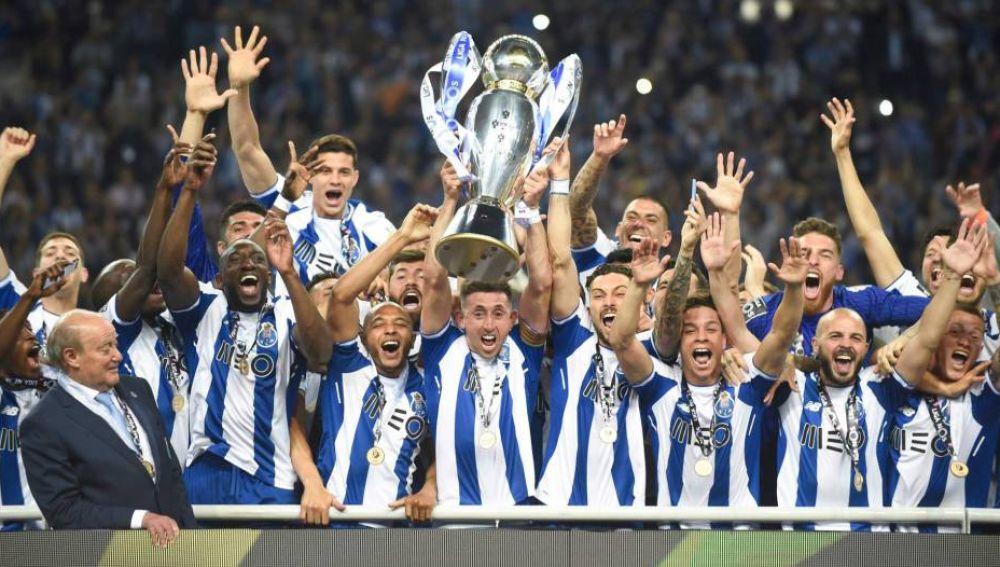 El FC Oporto celebra su victoria