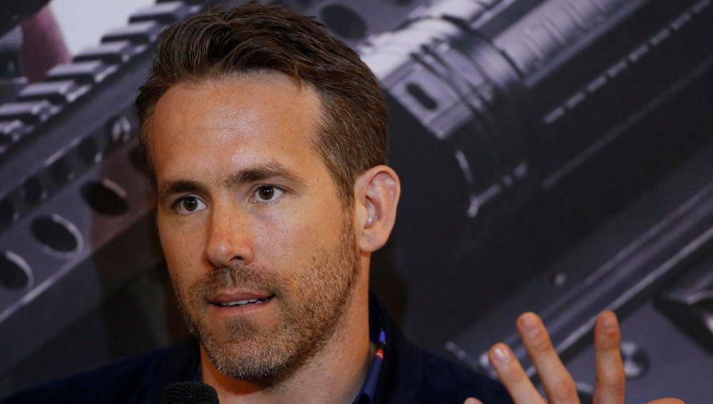 Ryan Reynolds en la gira de 'Deadpool 2'