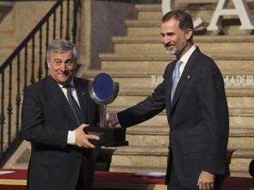 El Rey Felipe VI y Antonio Tajani