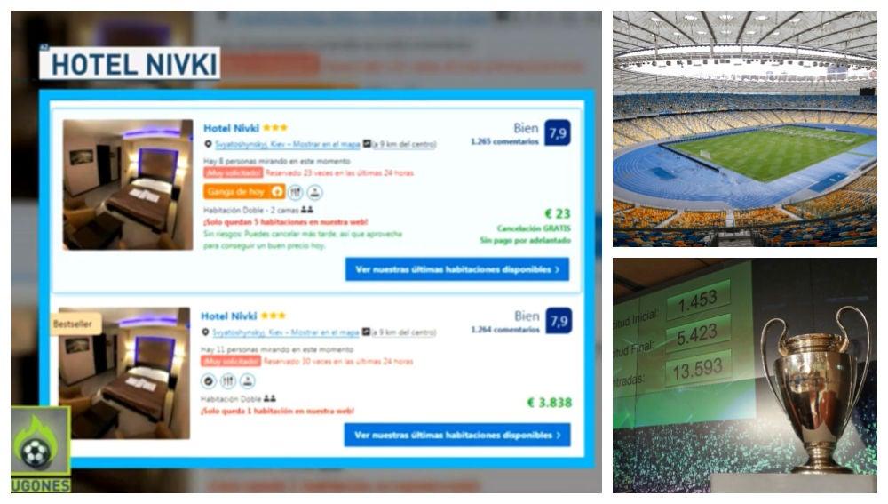 Los hoteles de Kiev disparan sus precios por la final de Champions League