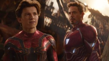 Spiderman y Iron Man en 'Vengadores: Infinity War'