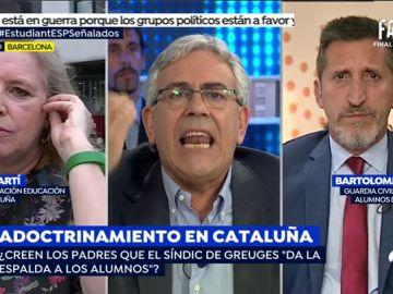 """La tremenda bronca de Toni Bolaño con una delegada de UGT: """"¿Si un maestro catalán comete un asesinato también lo vais a defender?"""
