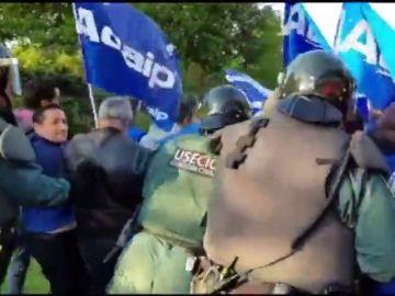 Funcionarios de prisiones protestan en diferente ciudades españoles por sus condiciones salariales
