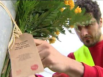 Nueva campaña de 'Ponle Freno': coloca 17 ramos de flores en puntos negros, uno por cada comunidad autónoma