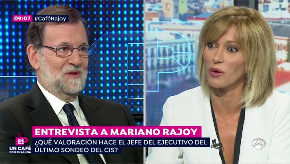 Los tres guiños que le ha hecho Mariano Rajoy a Susanna Griso en la entrevista en Espejo Público