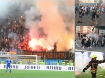 Disturbios en la final de Copa de Ucrania