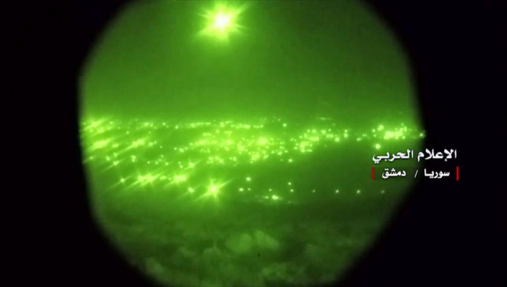 Las fuerzas iraníes en Siria lanzan misiles contra objetivos israelíes en los Altos del Golán