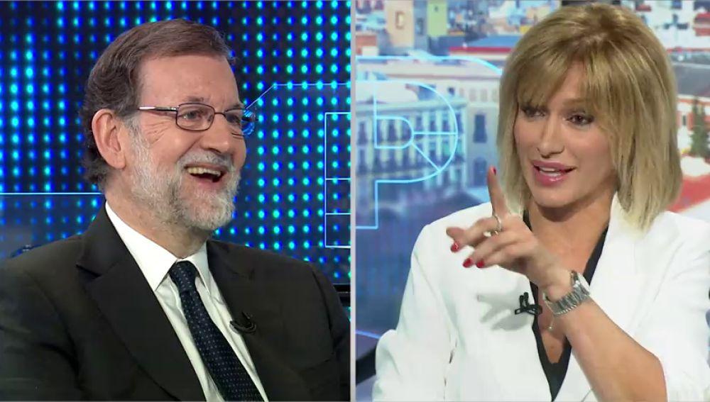 """El guiño de Rajoy a Susanna Griso sobre sus entrevistas: """"Las buenas son las que me hace usted"""""""