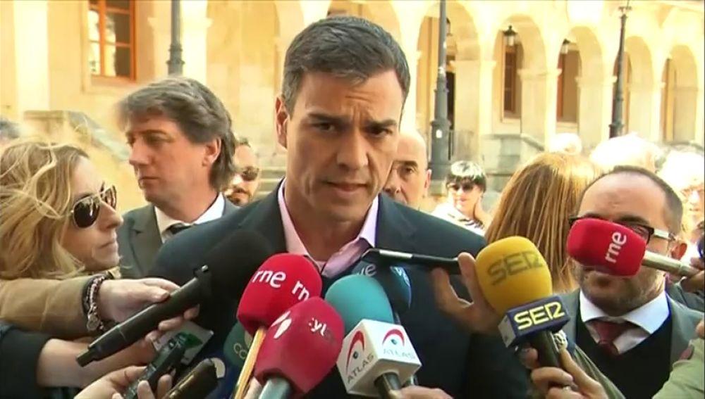 """Pedro Sánchez: """"No necesitamos aprovechateguis ni amarrateguis"""""""