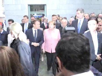 El rey, con Macron y Merkel en Aquisgrán
