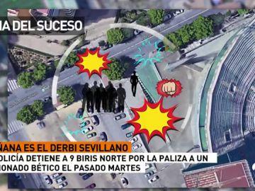 Detenidos nueve ultras del Sevilla por la agresión a un aficionado del Betis cerca del Villamarín