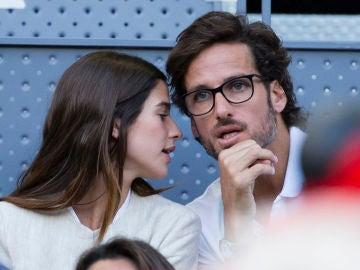 Sandra Gago y Feliciano López durante el partido de Nadal