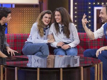 Amaia Romero se queda sin palabras al conocer a su doble en 'La noche de Rober'