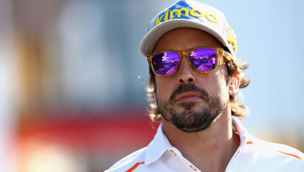 El piloto asturiano Fernando Alonso