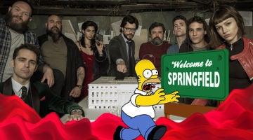 Los atracadores de 'La casa de papel' se mudan de piel para convertirse en 'Los Simpson'