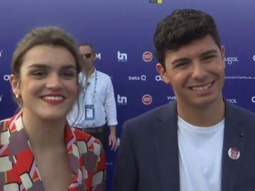 Alfred y Amaia, poco antes de su actuación: