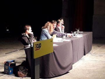 Consejo político de la CUP, reunido en Cervera