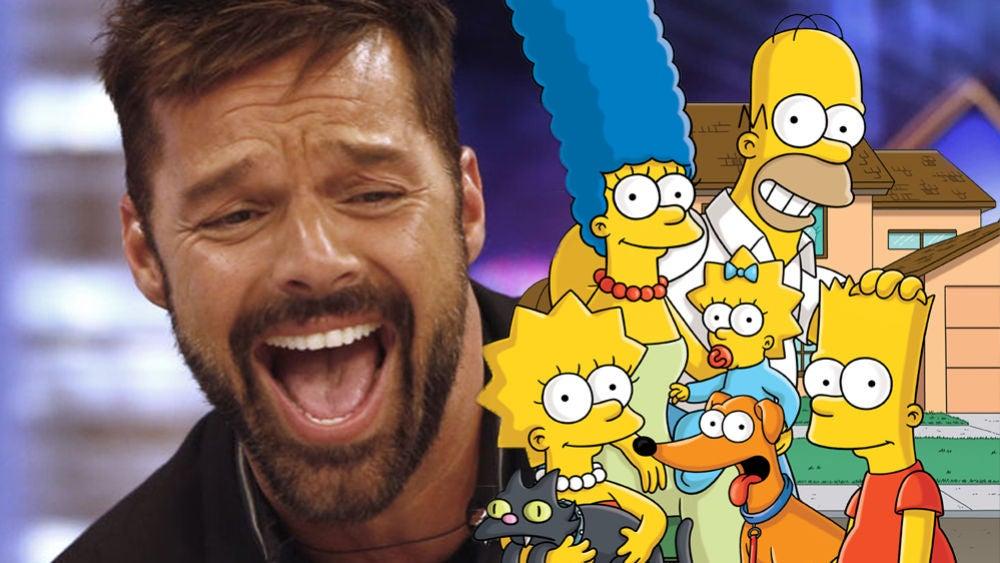 Ricky Martin 'preocupa' a Homer en su primera imagen como miembro de 'Los Simpson'