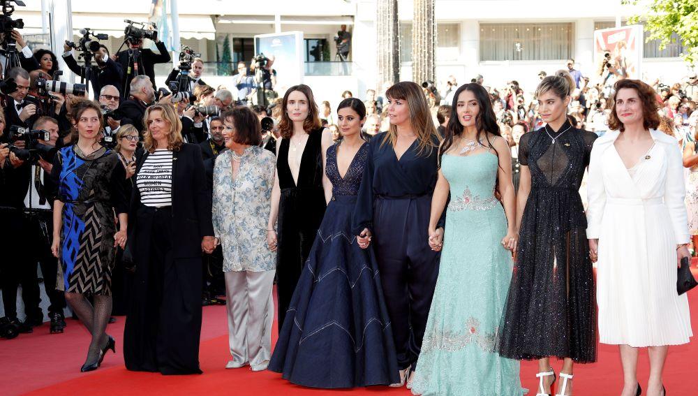 Patty Jenkins, Salma Hayek, Sofia Boutella junto a otras actrices