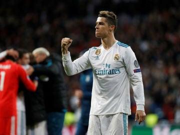 Cristiano Ronaldo celebra una victoria en la Champions