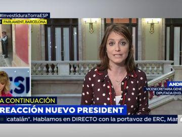 """Andrea Levy, sobre Torra: """"Es una calcomanía de Puigdemont"""""""