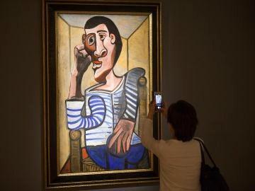 'Le Marin', un cuadro del pintor español Pablo Picasso, considerado como un autorretrato del artista