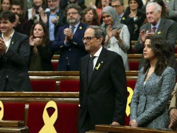 Quim Torra, en la sesión de investidura como president de la Generalitat