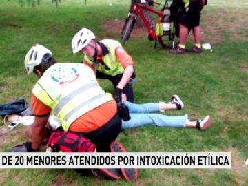 Al menos 24 menores tienen que ser atendidos por el exceso de alcohol durante las fiestas de San Isidro