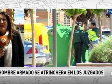 Un hombre permanece atrincherado en los Juzgados de La Almunia