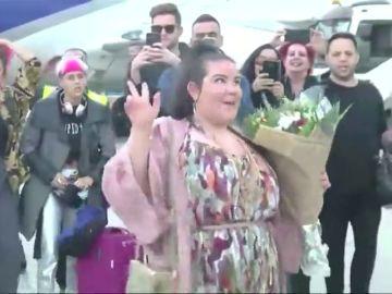 "Netta Barzilai, la ""embajadora"" de Israel celebra su triunfo con los suyos"
