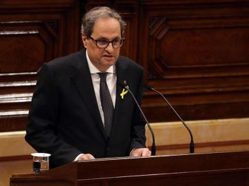 Quim Torra en el Parlament de Cataluña