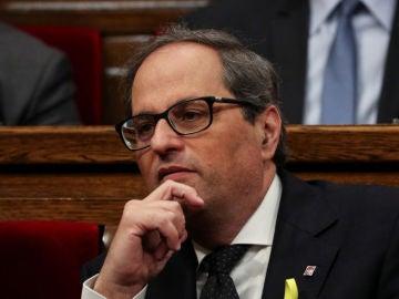 Noticias 1 Antena 3 (14-05-18)  Quim Torra, elegido presidente de Cataluña con 66 votos a favor y las cuatro abstenciones de la CUP