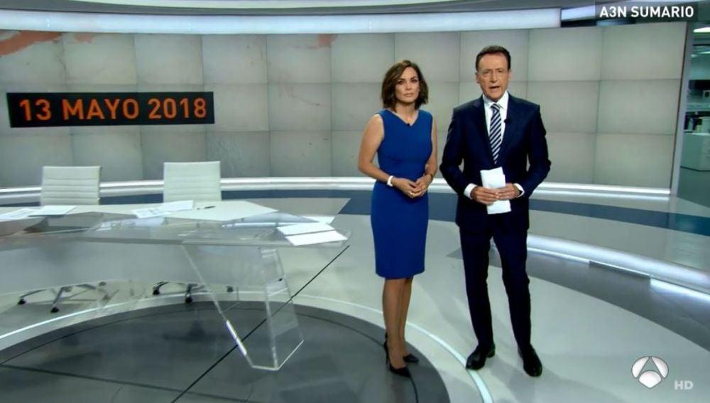 Antena 3 Noticias con Mónica Carrillo y Matías Prats