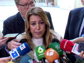 "Susana Díaz se queja de que ""faltan efectivos"" en Algeciras"
