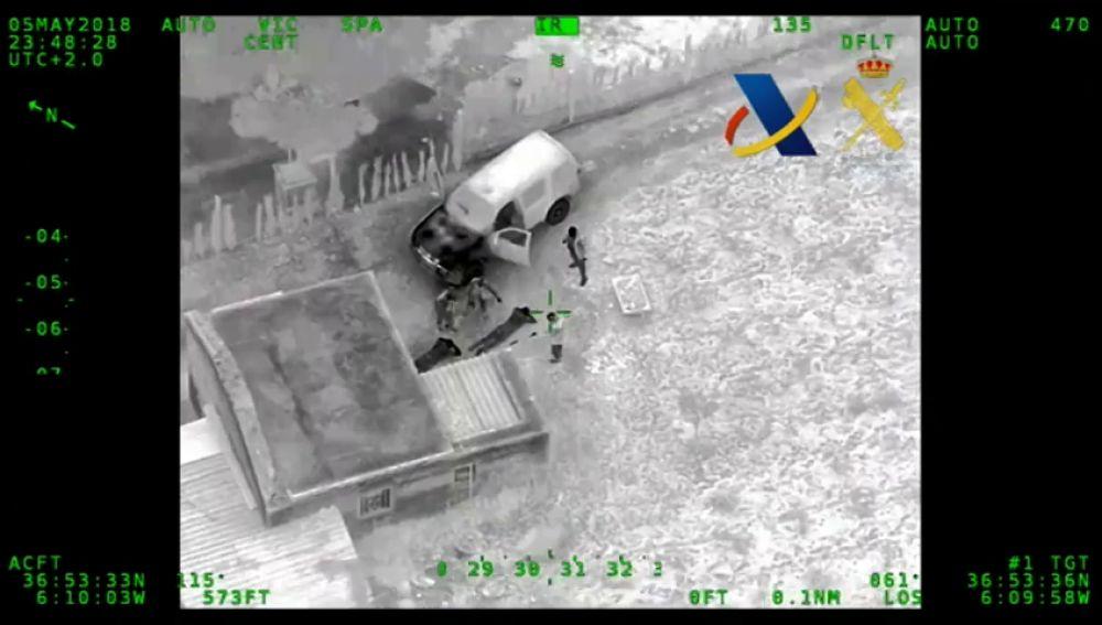 Intervenidos más de 2.500 kilos de hachís cruzando el Guadalquivir