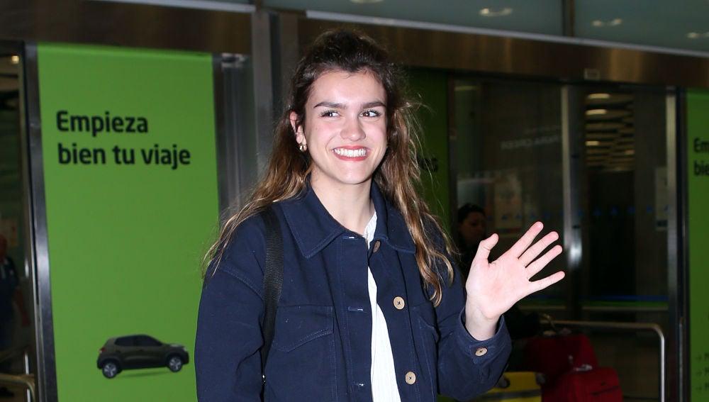 Amaia a su llegada a Madrid